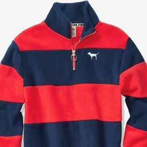 VS PINK  Polar Fleece Half Zip Pullover Sweater